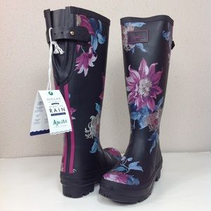 NWT Joules Tall Floral Print Rain Boot Welly